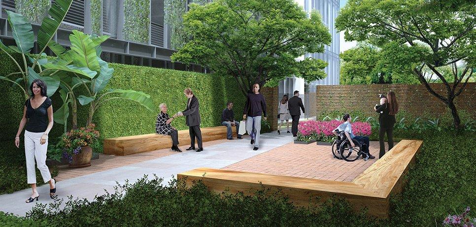 Landscape Insurance courtyard