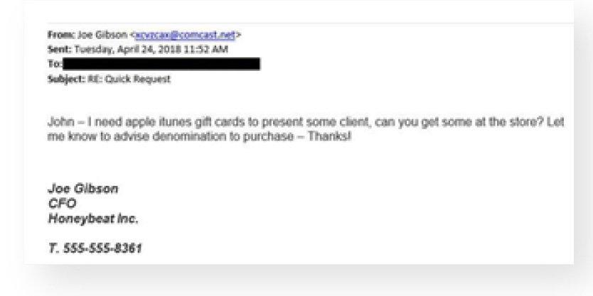 Sample Email Spear Phishing